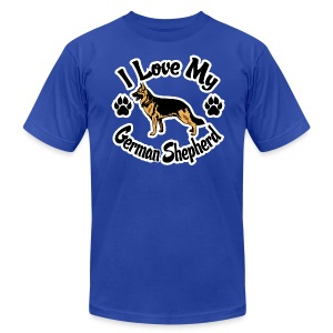Love My German Shepherd - Men's T-Shirt by American Apparel