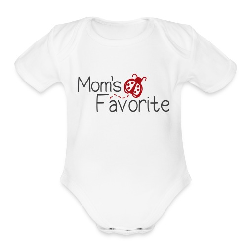 Mom's Favorite - Baby Bodysuit  - Organic Short Sleeve Baby Bodysuit