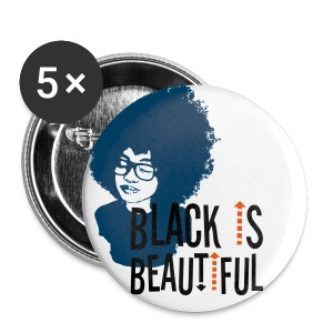 Black is Beautiful Pins - Large Buttons