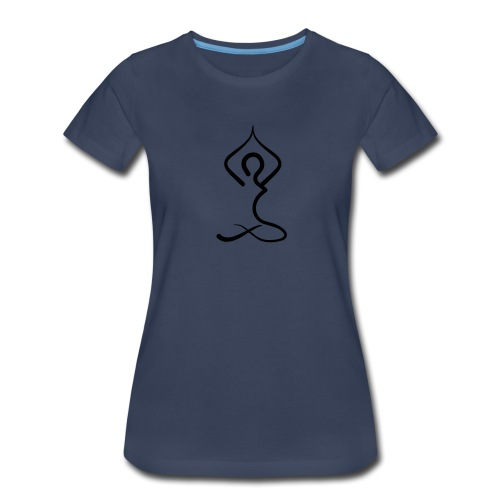 Yoga Silhouette Woman's T-shirt - Blue - Women's Premium T-Shirt