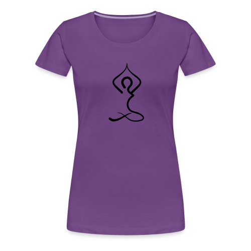 Yoga Silhouette Woman's T-shirt - Purple - Women's Premium T-Shirt