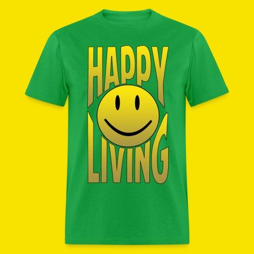 Happy Living WORDS - Men's T-Shirt