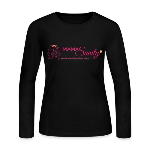 Women's Long Sleeve Jersey T-Shirt - women,sanity,rebellious,pink,parenting,more than just a mom,moms,mamasanity,lioness,insanity,gold,empowerment,edgy,defiant,cute,beautiful,badass,Queen,Moms sanity,Mommy,Cute mom,Crown