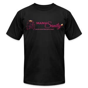 Men's T-Shirt by American Apparel - Crown,Cute mom,Mommy,Moms sanity,Queen,badass,beautiful,cute,defiant,edgy,empowerment,gold,insanity,lioness,mamasanity,moms,more than just a mom,parenting,pink,rebellious,sanity,women