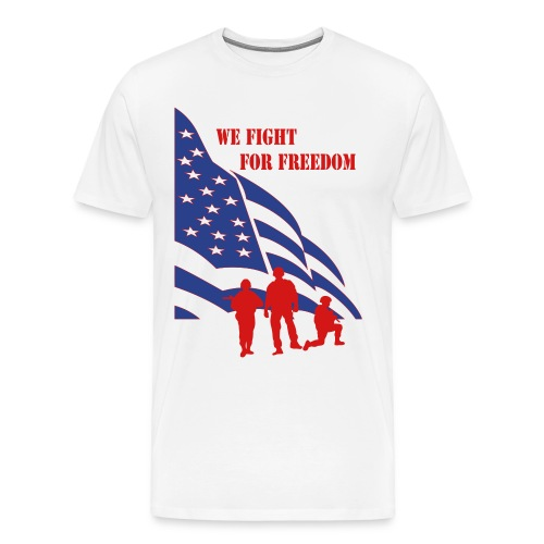 Fight for Freedom Men's T-shirt - Men's Premium T-Shirt