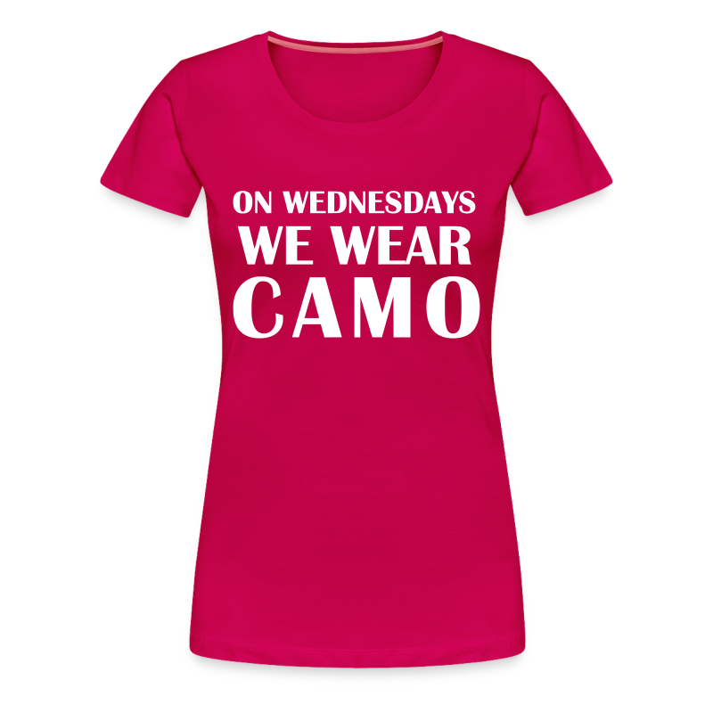 Camo Wednesdays - Women's Premium T-Shirt