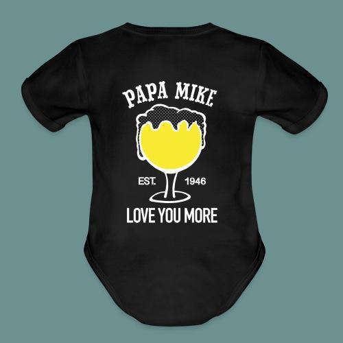 - Papa Mike - Organic Short Sleeve Baby Bodysuit