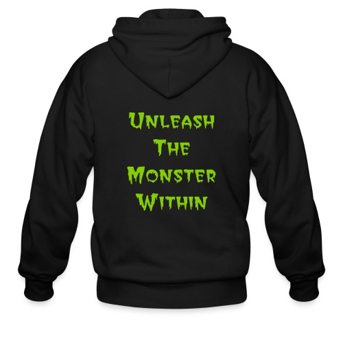 UNLEASH THE MONSTER WITHIN - Men's Zip Hoodie
