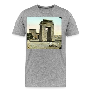 Karnak, Egypt, Gate and Pylon - Men's Premium T-Shirt
