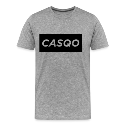 Casqo Rectangle Text (T-Shirt) - Men's Premium T-Shirt