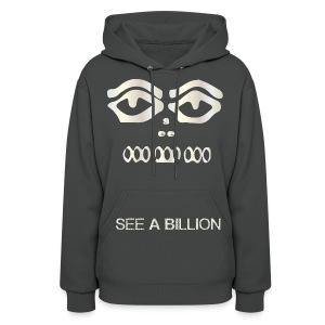womn blk grey queeen see-a-billion hoodie - Women's Hoodie