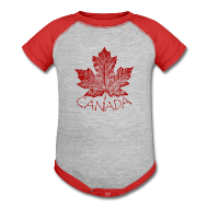 Baby Bodysuits ~ Baby Contrast One Piece ~ Baby Canada Souvenir One-piece Souvenir