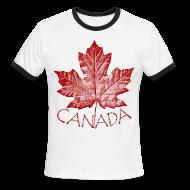 T-Shirts ~ Men's Ringer T-Shirt ~ Canada T-shirts Men's Canada SOuvenir Ringer Tee