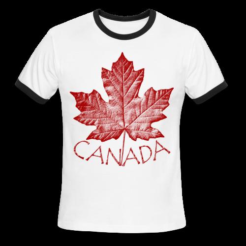 Canada T-shirts Men's Canada SOuvenir Ringer Tee - Men's Ringer T-Shirt