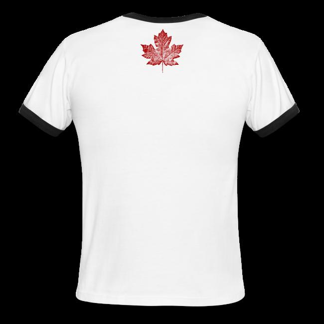 Canada T-shirts Men's Canada SOuvenir Ringer Tee