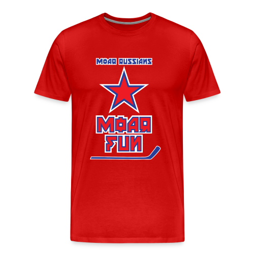 Moar Russians Moar Fun T-Shirt (3XL-Plus Sizes) - Men's Premium T-Shirt