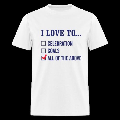 I Love To Celebration Men's T-Shirt - Men's T-Shirt