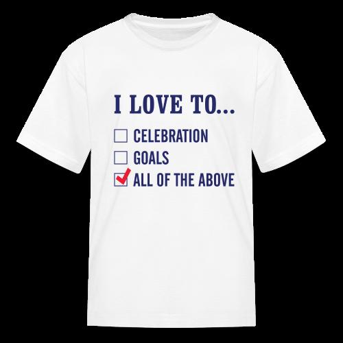 I Love To Celebration Kids T-Shirt - Kids' T-Shirt