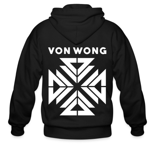 V2 - Simple Front / Designer - Men's Zip Hoodie