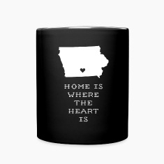 Iowa Home is Where the Heart is State T-shirt Mugs & Drinkware