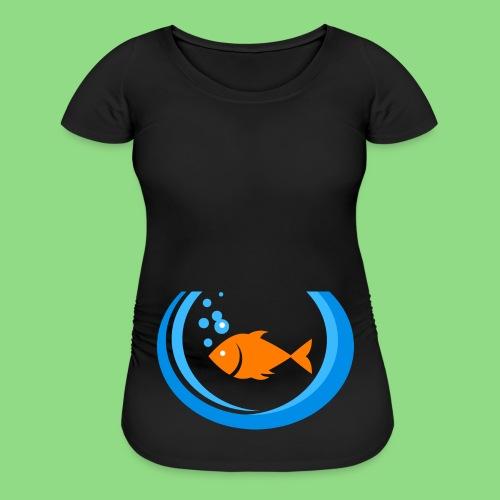 Fishbowl Baby Bump - Women's Maternity T-Shirt