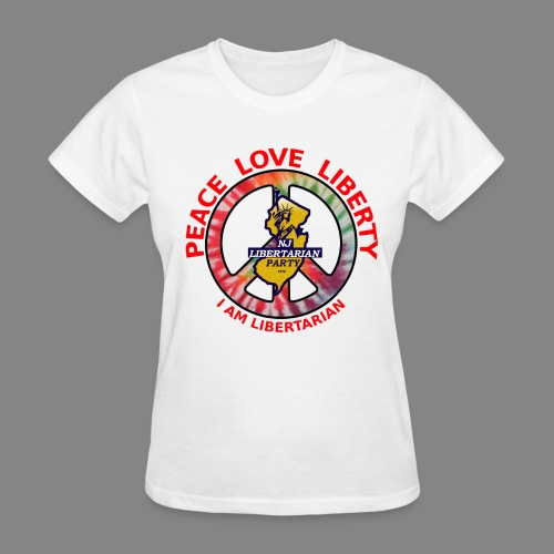 Women's Peace Libertarian T-Shirt - Women's T-Shirt