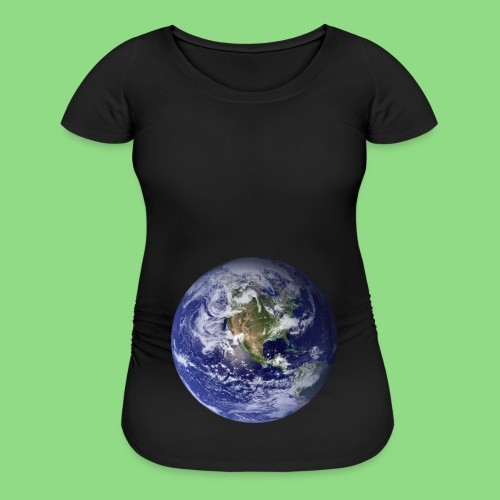 Earth Baby Bump - Women's Maternity T-Shirt