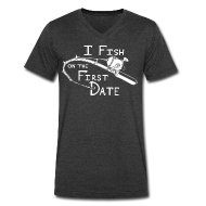 T-Shirts ~ Men's V-Neck T-Shirt by Canvas ~ Fish First Date