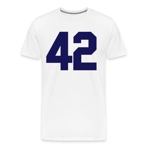 42 Baseball T-Shirt - Men's Premium T-Shirt