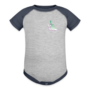 Lady Liberty Is An Immigrant, F&B - Baby Contrast One Piece