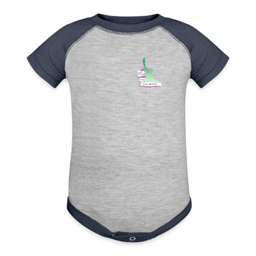 Lady Liberty Is An Immigrant, F&B - Contrast Baby Bodysuit
