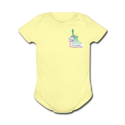 Lady Liberty Is An Immigrant, F&B - Organic Short Sleeve Baby Bodysuit