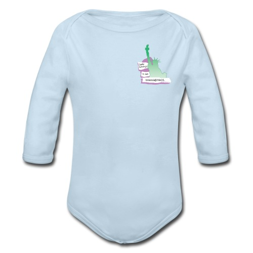 Lady Liberty Is An Immigrant, F&B - Organic Long Sleeve Baby Bodysuit