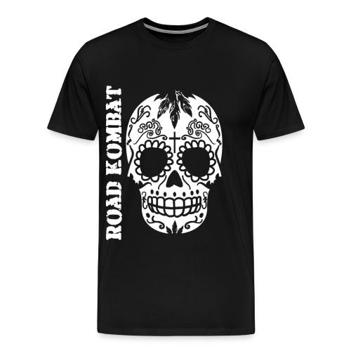 Road Kombat Calavera Tee - Men's Premium T-Shirt