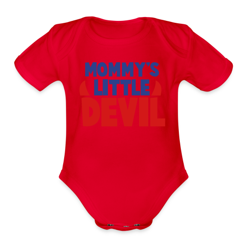 Mommy's Little Devil One Piece  - Organic Short Sleeve Baby Bodysuit