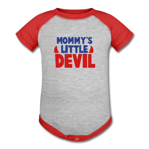 Mommy's Little Devil Contrast Tee - Baby Contrast One Piece