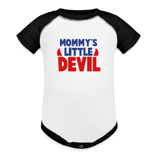 Mommy's Little Devil Contrast Tee - Contrast Baby Bodysuit