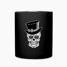 Gentleman Sugar Skull Mugs & Drinkware