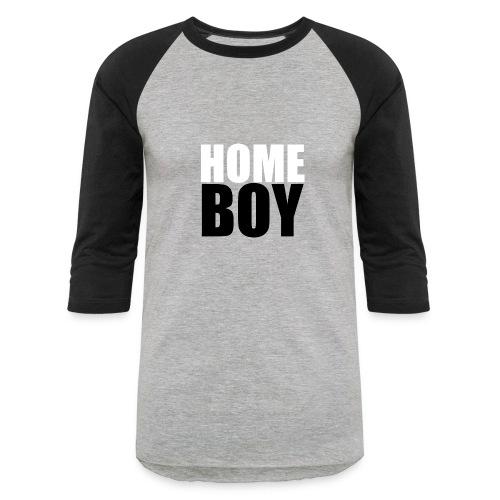 Mens Grey & Black Top - Baseball T-Shirt