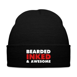 bearded - Knit Cap with Cuff Print