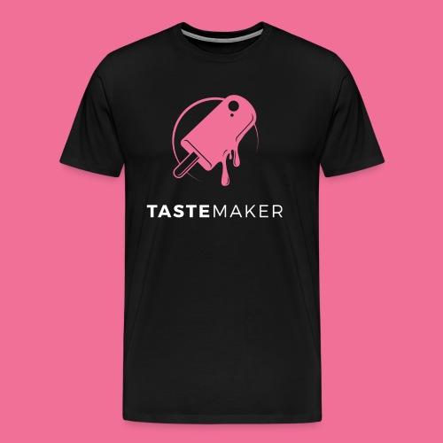 Tastemaker Tee (Logo + Text) - Pink/White - Men's Premium T-Shirt