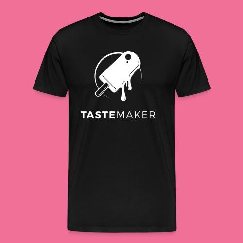 Tastemaker Tee (Logo + Text) - White - Men's Premium T-Shirt