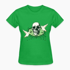 skull_spiders_and_doves_04201603 Women's T-Shirts