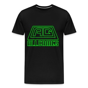 Neon Green Logo - Men's Premium T-Shirt