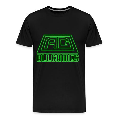 Neon Green Logo - Men's Premium T-Shirt