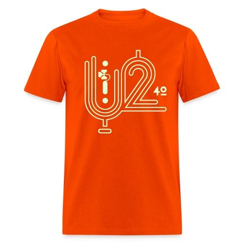 U+2=40 - front print glow - s/5xl - multi colors - Men's T-Shirt