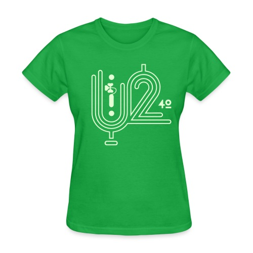 U+2=40 - front print glow - s/3xl - multi colors - Women's T-Shirt