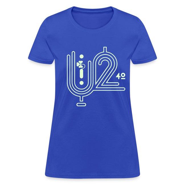 U+2=40 - front print glow - s/3xl - multi colors