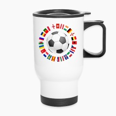2016 Soccer ball around with flags Mugs & Drinkware