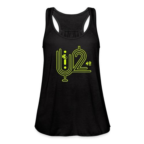U+2=40 - front print neon - xs/xxl - Women's Flowy Tank Top by Bella